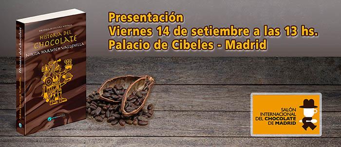 Presentación de Historia del chocolate en El Salón Internacional del Chocolate de Madrid