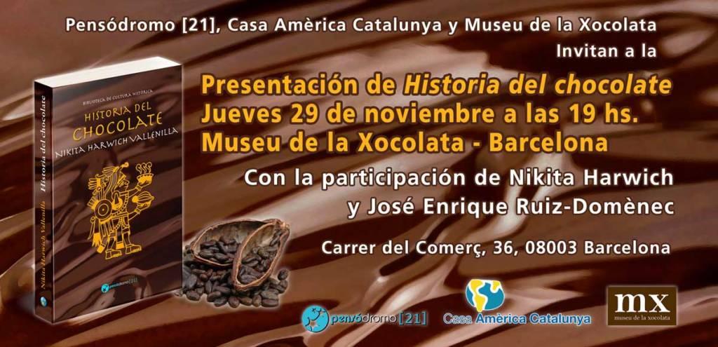 """Presentación de """"Historia del chocolate"""" en Barcelona"""